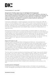 Download pressemeddelelse - Designskolen Kolding