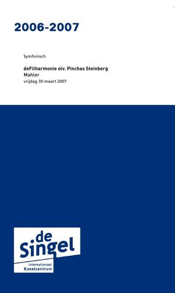 Programmaboekje : deFilharmonie - deSingel