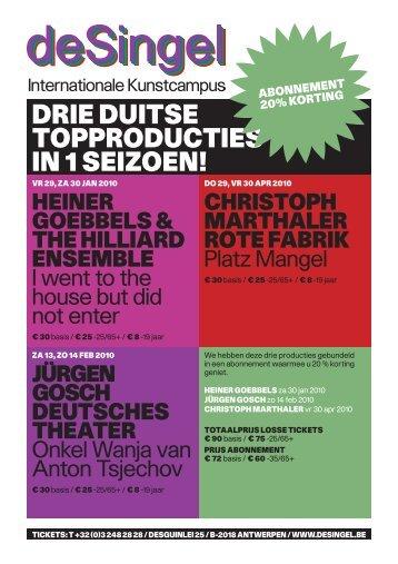 Folder Duits theater - deSingel