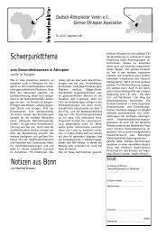 02/97 Gesundheitswesen in Äthiopien (18 S., 115 kB) - Deutsch ...