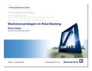 Wachstumsstrategien im Retail Banking - Deutsche Bank