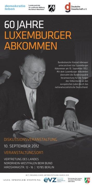 Luxemburger Abkommen - Deutsche Gesellschaft eV