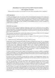 Abstentions et vote contre sur l'avis relatif à l'écart de taxation entre ...