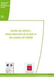 bilans 2009-2012 de la TGAP et des soutiens de l'ADEME