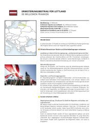 ErwEitErungsbEitrag für LEttLanD 60 MiLLionEn ... - Deza - admin.ch