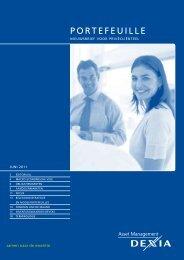 PORTEFEUILLE - Dexia Asset Management