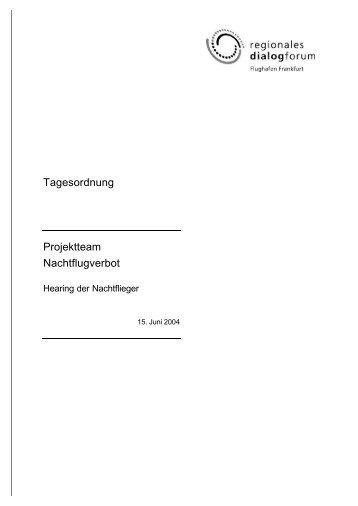 Tagesordnung - Deutscher Fluglärmdienst eV