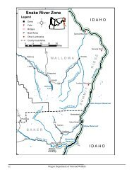 Snake River Zone - Oregon Department of Fish and Wildlife