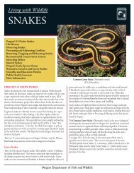 SNAKES - Oregon Department of Fish and Wildlife