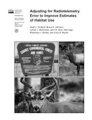 Adjusting for Radiotelemetry Error to Improve Estimates of Habitat Use
