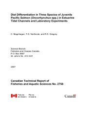 Diet differentiation in three species of juvenile Pacific salmon