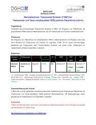 Mammakarzinom: Trastuzumab Emtansin (T-DM1) bei ... - DGHO