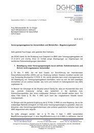 30.01.2013 Versorgungsengpässe bei Arzneimitteln und ... - DGHO