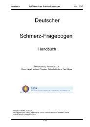 Deutscher Schmerz-Fragebogen - Deutsche Schmerzgesellschaft e.V.