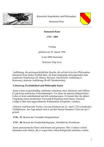 Immanuel Kant - Westmark zu Karlsruhe