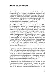 9 Vorwort der Herausgeber - Deutsche Hochschule der Polizei