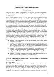 Fallanalyse als Form forschenden Lernens - Deutsche Hochschule ...