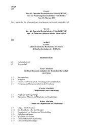 20320 205 Gesetz über die Deutsche Hochschule der Polizei ...