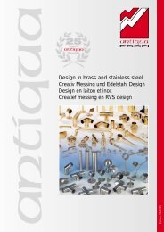 Katalogus creatief messing en RVS design - Dhondt