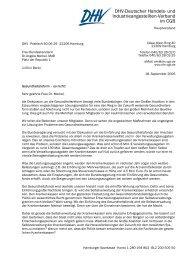 Schreiben an die Bundeskanzlerin Angela Merkel - DHV ...
