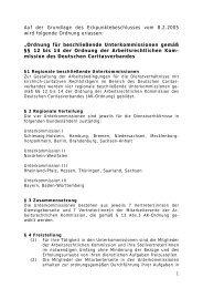 Ordnung für beschließende Unterkommissionen gemäß §12 bis 14 ...
