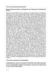 1-Euro-Jobs arbeitsrechtlich betrachtet - DIAG - MAV Freiburg