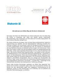 Informationen zum Dritten Weg der Kirchen im Arbeitsrecht (12.12 ...