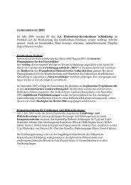 Jahresbericht 2003 - Evangelisches Diakoniewerk Gallneukirchen