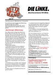Mittenmang Juli 2007 - DIE LINKE in Hamburg-Mitte