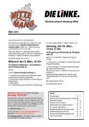 Mittenmang März 2011 - DIE LINKE in Hamburg-Mitte