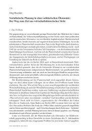 Jörg Roesler Sozialistische Planung in einer solidarischen Ökonomie
