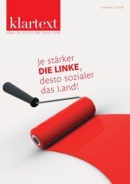Klartext - DIE LINKE Sachsen-Anhalt