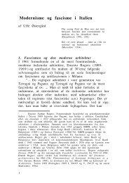 Modernisme og fascisme i Italien - DIIS