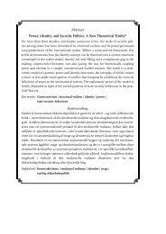 Staters sikkerhedspolitik – i spændingsfeltet mellem magt og ... - DIIS