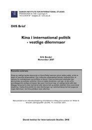Kina i international politik - vestlige dilemmaer - DIIS