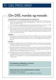 Press Briefs: De danske forbehold over for den Europæiske ... - DIIS