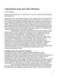 Lutheranismen og den universelle velfærdsstat - DIIS