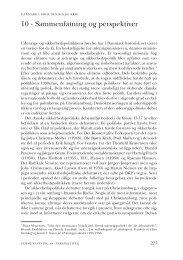 Kapitel 10. Sammenfatning og perspektiver - DIIS