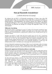 Skat på finansielle transaktioner - DIIS