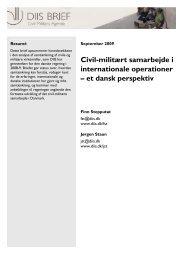Civil-militært samarbejde i internationale operationer – et ... - DIIS