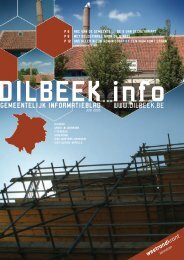 DILBEEK info GEMEENTELIJK INFORMATIEBLAD