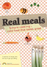 cold food that tastes great Simple cooking - Gov.uk