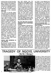 TRAGEDY OF NGOYE UNIVERSITY - DISA