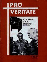 Pro Veritate Volume 11 Number 2 June 1972 - DISA