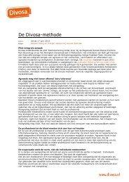 De Divosa-methode. Dossier Veilig en Integer werken bij sociale ...