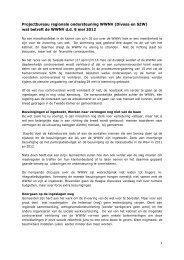 Projectbureau regionale ondersteuning WWNV (Divosa en SZW ...