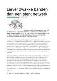 Liever zwakke banden dan een sterk netwerk - Divosa