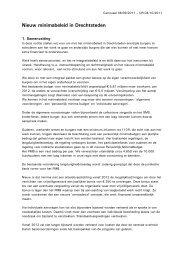 Nieuw minimabeleid in Drechtsteden - Divosa