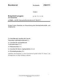 Empfehlungen Bundesrat 216/1/11 - Umwelt-online