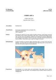 PDF-file: Chihuahua - Dansk Kennel Klub